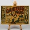 Big Box Art Leinwandbild The Gaieties, Retro-Werbung