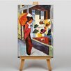 Big Box Art Woman Looking at Hat Shop by August Macke Art Print on Canvas