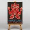 Big Box Art Indian Court No.4 Vintage Advertisement on Canvas