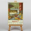 Big Box Art Market Vintage Advertisement on Canvas