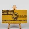 Big Box Art Leinwandbild Learn More Live More, Retro-Werbung