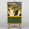 Big Box Art Visibility Zero Vintage Advertisement on Canvas