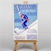 Big Box Art Leinwandbild Skiing, Retro-Werbung