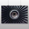 """Big Box Art """"Flugzeug Turbine"""", Grafikdruck"""