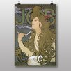 "Big Box Art Poster ""Job"" von Alphonse Mucha, Kunstdruck"