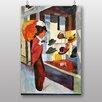 "Big Box Art Leinwandbild ""Woman Looking at Hat Shop"" von August Macke, Kunstdruck"