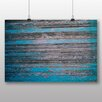 Big Box Art 'Blue Wood Texture' Photographic Print