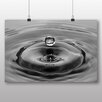 Big Box Art Poster Black and White Water Drop, Fotodruck