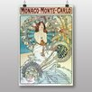 "Big Box Art ""Monaco Monte Carlo"" by Alphonse Mucha Art Print"
