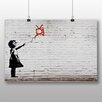 "Big Box Art ""Girl with Balloon TV Graffiti No.2"" by Banksy Art Print on Canvas"