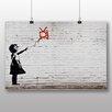 "Big Box Art Leinwandbild ""Girl with Balloon TV Graffiti No.2"" von Banksy, Grafikdruck"
