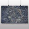 "Big Box Art Poster ""Blue Texture Abstract"", Grafikdruck"