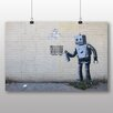 Big Box Art Banksy Robot Graffiti Photographic Print