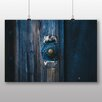 Big Box Art Poster Blue Door Bell, Fotodruck