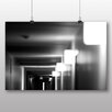 Big Box Art 'Black and White Corridor No.1' Photographic Print