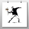 Big Box Art Flower Thrower by Banksy Art Print