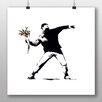 Big Box Art Poster Banksys Blumenwerfer, Kunstdruck