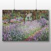 Big Box Art 'Irises in Monets Garden' by Claude Monet Art Print