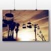 """Big Box Art Poster """"Seilbahn in der Abenddämmerung"""", Fotodruck"""
