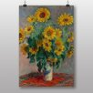 "Big Box Art ""Bouquet of Sunflowers"" by Claude Monet Art Print"