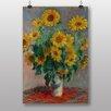 """Big Box Art Poster """"Bouquet of Sunflowers"""" von Claude Monet, Kunstdruck"""
