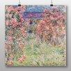 Big Box Art Poster Rose House von Claude Monet, Kunstdruck