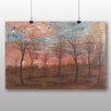 """Big Box Art Poster """"Bäume"""" von Egon Schiele, Kunstdruck"""