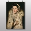 "Big Box Art ""Lady in a Fur Wrap"" by El Greco Art Print"