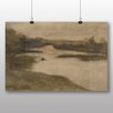 Big Box Art Paysage avec large rivière by Eugène Carrière Art Print