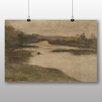 """Big Box Art Poster """"Paysage avec large rivière"""" von Eugène Carrière, Kunstdruck"""