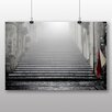Big Box Art City Steps Photographic Print on Canvas