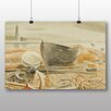 "Big Box Art ""Anchor and Boats"" by Eric Ravilious Art Print on Canvas"