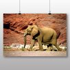 Big Box Art Elephant Rocky Canyon Photographic Print