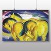 Big Box Art 'Yellow Horses' by Franz Marc Art Print