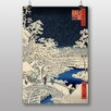 Big Box Art Japanese Oriental Bridge at Meguro by Hiroshige Art Print