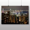 Big Box Art Hong Kong City Skyline No.1 Photographic Print Wrapped on Canvas