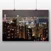Big Box Art Hong Kong City Skyline No.1 Photographic Print Wrapped on Canvas