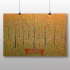 """Big Box Art Poster """"Red Park Bench"""" von Georges Pierre Seurat, Kunstdruck"""