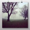 Big Box Art Hazy Trees Photographic Print Wrapped on Canvas