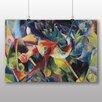 """Big Box Art Poster """"Reh im Blumengarten"""" von Franz Marc, Kunstdruck"""