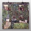 """Big Box Art Poster """"Haus"""" von Gustav Klimt, Kunstdruck"""
