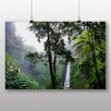 Big Box Art Poster Jungle Forest with Waterfall, Fotodruck