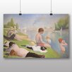 Big Box Art 'Bathers No.1' by Georges Pierre Seurat Art Print