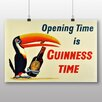 Big Box Art Opening Time is Guinness Time Vintage Advertisement