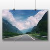 Big Box Art Mountain Road Photographic Print on Canvas