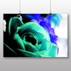 Big Box Art Teal Flower Rose Graphic Art