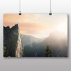 Big Box Art Sunlight over Mountains Photographic Print Wrapped on Canvas