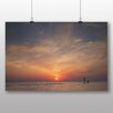 Big Box Art Sunset over The Sea Photographic Print on Canvas