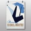 Big Box Art Poster Science and Industry, Retro-Werbung