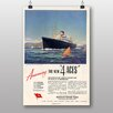 Big Box Art Poster Cunard Line, Retro-Werbung